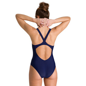 arena Mirrored V Back One Piece Swimsuit Women navy/navy